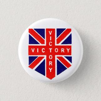 WWII Union Jack Victory 3 Cm Round Badge