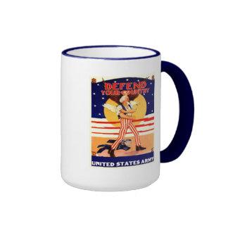 WWII US Army Uncle Sam Coffee Cup Coffee Mug