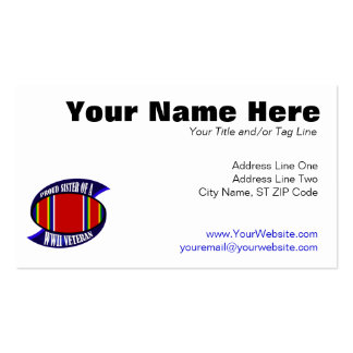 WWII Vet Sister Pack Of Standard Business Cards