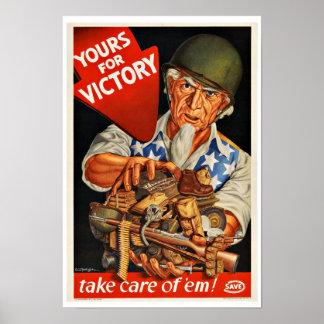 WWII Victory - Vintage Patriotism Print