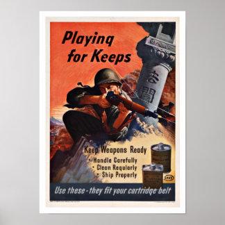 WWII Victory - Vintage Patriotism Posters