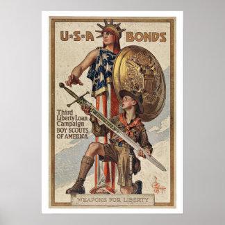 WWII War Bonds - Vintage Patriotism Posters
