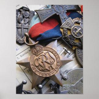 WWII War Service Star Print