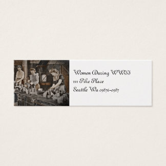 WWII Women in Assembly Line Mini Business Card