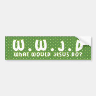 WWJD 2 BUMPER STICKER
