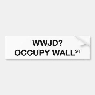 WWJD? Occupy Wall St Bumper Sticker