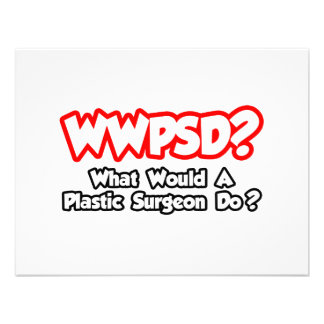 WWPSD What Would a Plastic Surgeon Do Personalized Invitations