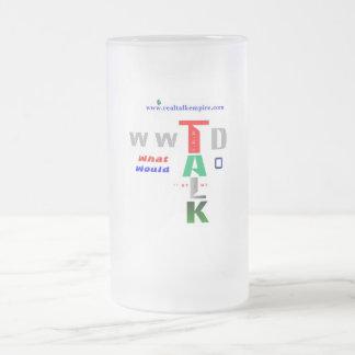 wwtd - glass frosted glass mug