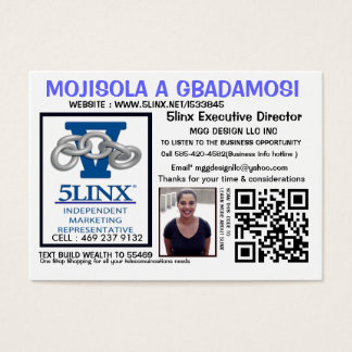 WWW.5LINX.NET/L533845 @ BE YOUR OWN BOSS BUSINESS CARD
