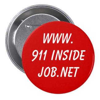 www.911 InsideJob.net 7.5 Cm Round Badge