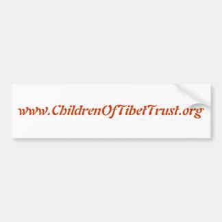 www.ChildrenOfTibetTrust.org Car Bumper Sticker