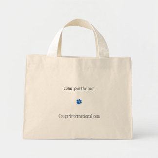 www.CougarInternational.com Cougar/Cub Clothing Mini Tote Bag