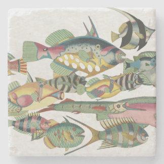 WWW FISH Stoneware Stone Coaster