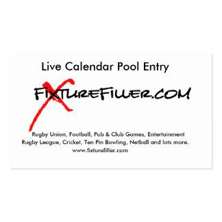 www.fixturefiller.com busness card pack of standard business cards