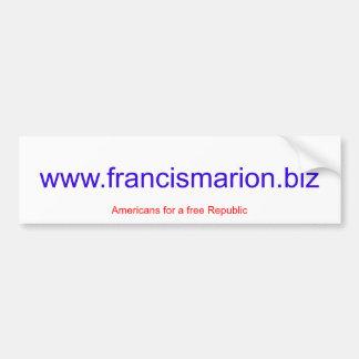 www.francismarion.biz bumper sticker
