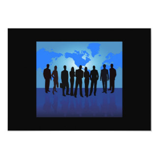www_Garcya_us_business people vector 13 Cm X 18 Cm Invitation Card