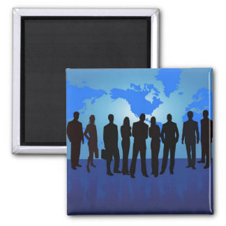 www_Garcya_us_business people vector Square Magnet