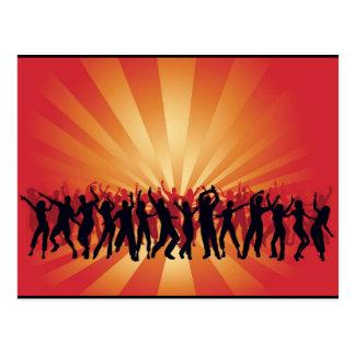 www_Garcya_us_dancing disco people vector Postcard