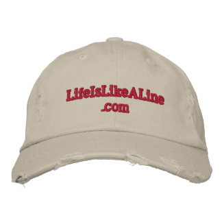 www.LifeIsLikeALine Weathered Baseball Cap