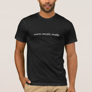 www.music.mobi Tight Black T-Shirt