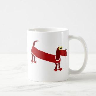 WX- Funny Dachshund Primitive Art Coffee Mug