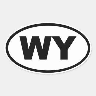 WY Wyoming Oval Sticker
