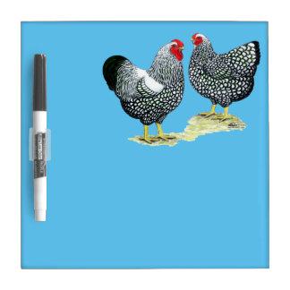 Wyandottes Silver-laced Pair Dry Erase Board
