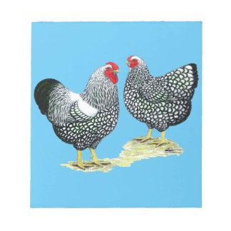 Wyandottes Silver-laced Pair Notepad