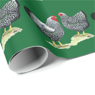 Wyandottes Silver-laced Pair Wrapping Paper