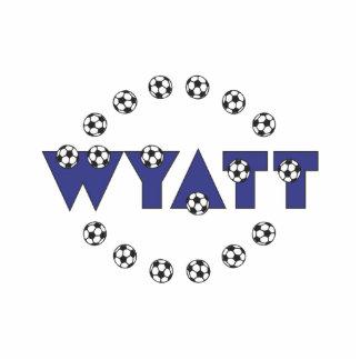 Wyatt in Soccer Blue Standing Photo Sculpture