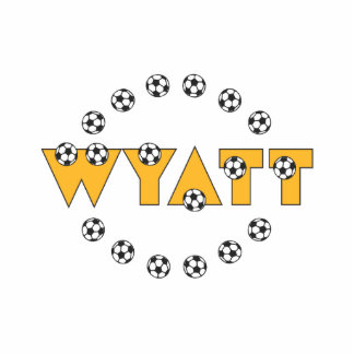 Wyatt in Soccer Gold Acrylic Cut Outs