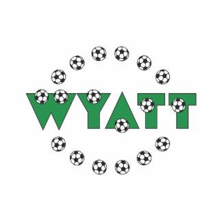 Wyatt in Soccer Green Standing Photo Sculpture