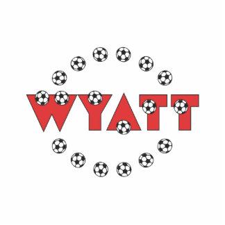 Wyatt in Soccer Red Standing Photo Sculpture