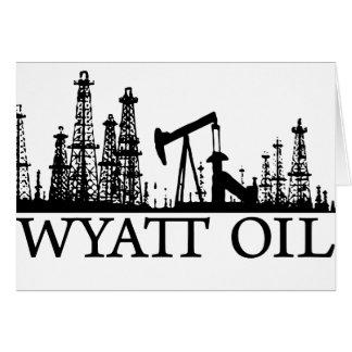 Wyatt Oil / Black Logo Card