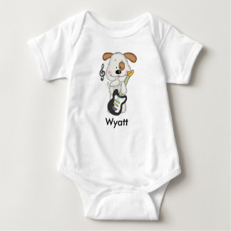 Wyatt's Rock and Roll Puppy Baby Bodysuit