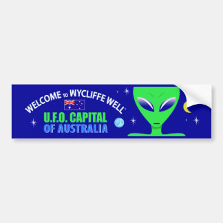 Wycliffe Well UFO Bumper Sticker