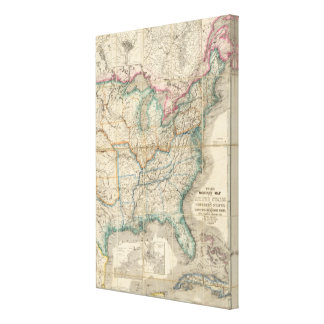 Wyld's Military Map Of The United States Stretched Canvas Prints