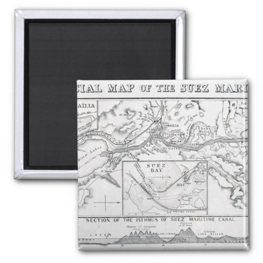 Wyld's Official Map of the Suez Maritime Canal Magnet