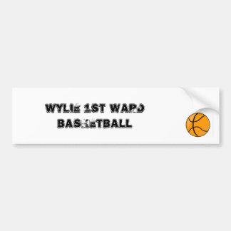 Wylie 1st Ward Basketball Bumper Sticker