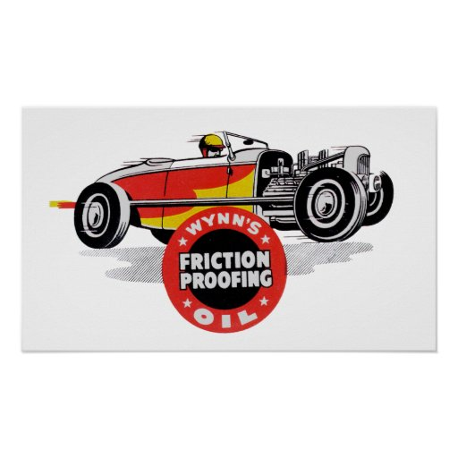 Wynn's Oil Vintage Racing Logo Poster
