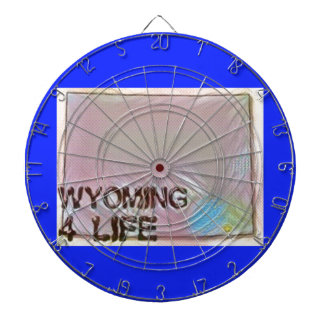 """Wyoming 4 Life"" State Map Pride Design Dartboard"