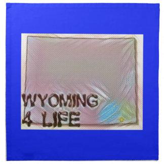"""Wyoming 4 Life"" State Map Pride Design Napkin"