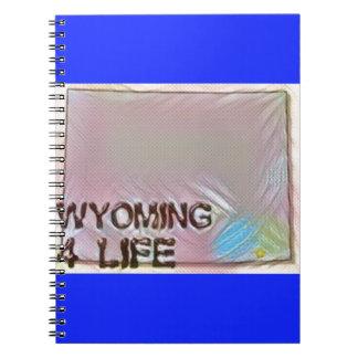 """Wyoming 4 Life"" State Map Pride Design Notebook"