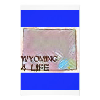 """""""Wyoming 4 Life"""" State Map Pride Design Personalised Stationery"""