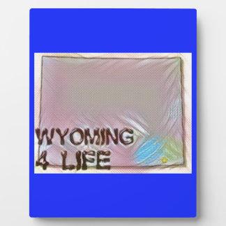 """Wyoming 4 Life"" State Map Pride Design Plaque"