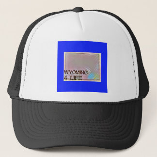 """Wyoming 4 Life"" State Map Pride Design Trucker Hat"