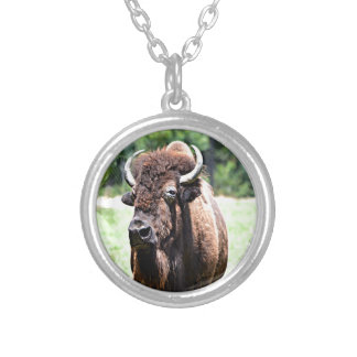 Wyoming Buffalo (Bison) Silver Plated Necklace