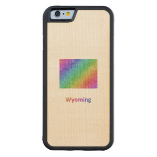 Wyoming Carved Maple iPhone 6 Bumper Case