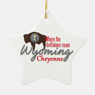 WYOMING CERAMIC ORNAMENT