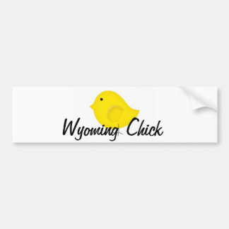 Wyoming Chick Bumper Sticker